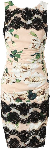 dolce-gabbana-ruched-crepe-and-lace-floral-printed-dress http://www.brownsfashion.com/product/013F09670006/023/ruched-crepe-and-lace-floral-printed-dress