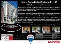 #Immobiliare Bari, Corso della Carboneria 15 (vicinanze Tribunale Penale) - Quartiere Libertà  Ufficio Quadrivani con Posto Auto  info 348 7340665 remax.it/20031050-548