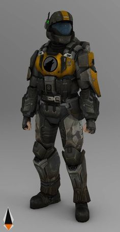 Armor Concept, Weapon Concept Art, Armadura Sci Fi, Game Character, Character Design, Halo 3 Odst, Halo Cosplay, Cyberpunk, Fallout Concept Art
