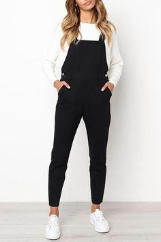 Orsle Leisure Black One-piece Jumpsuits - - Outfit ideen - Mode Outfits, Fall Outfits, Fashion Outfits, Summer Outfits, Womens Fashion, School Outfits, Woman Outfits, Dress Summer, Summer Clothes