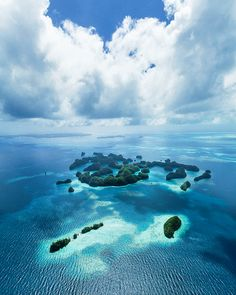 visitheworld: Aerial view of paradise, Palau Islands, Micronesia (by ippei + janine). Places Around The World, Oh The Places You'll Go, Places To Travel, Places To Visit, Around The Worlds, Paradise Island, Beautiful World, Beautiful Places, Beautiful Pictures