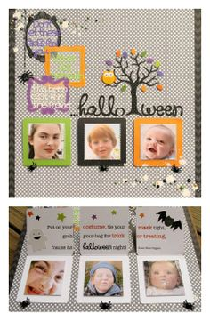 Doodlebug Design Inc Blog: Using 3x3 Cards on a Layout ~Love the use of the cards as hidden journalling on the halloween lo!~N