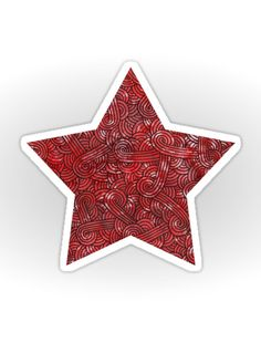 """Red and black zentangles"" Sticker by Savousepate on Redbubble #sticker…"