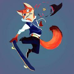 Fox Character, Character Creation, Character Design, Zootopia Comic, Zootopia Art, Nick Wilde, Zootopia Concept Art, Joker Art, Cyberpunk Art