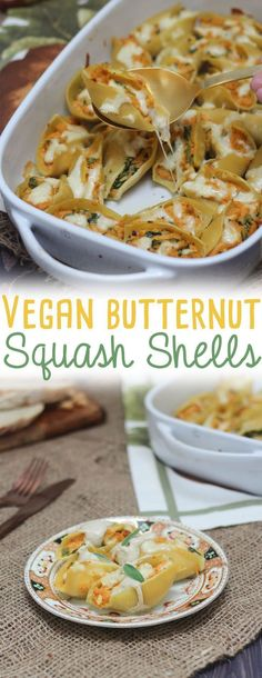 Vegan Butternut Squash Shells with Sage Cream Sauce