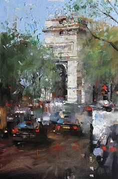 Mark Lague - Paris Traffic- Oil - Painting entry - March 2014 | BoldBrush Painting Competition