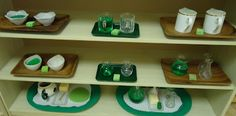march & st. patrick's day themed shelves
