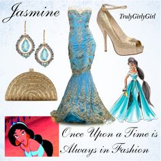 Disney Style: Jasmine (Disney Princess Designer Collection), created by trulygirlygirl on Polyvore