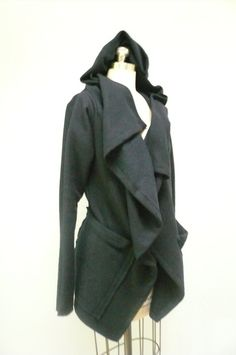 Hey, I found this really awesome Etsy listing at http://www.etsy.com/listing/83217473/maria-severyna-black-boiled-wool-jacket