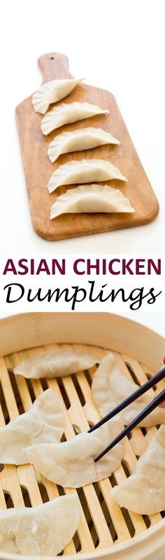 Asian Chicken Dumplings (Two Ways). Step by step tutorial for pan fried and steamed dumplings. They both take less than 30 minutes to make