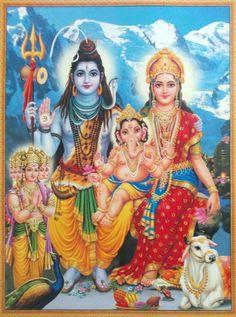 Shiva Parvati Ganesha Kartikeya Shiva Parvati Images, Rudra Shiva, Saraswati Goddess, Shiva Shankar, Lord Balaji, Lord Shiva Family, Lord Vishnu Wallpapers, Shree Ganesh, Lord Shiva Painting