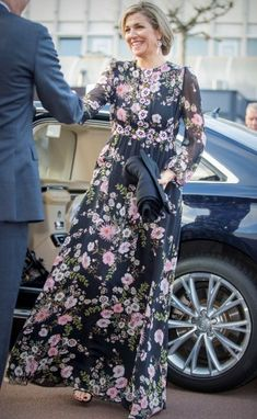 3 April 2017 - The Dutch Royal Family attend King's Day Concert - dress by Giambattista Valli, shoes by Gianvito Rossi