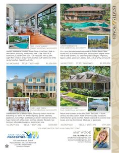 Amy Wood is the agent for these great listings featured in our Estates & Homes Magazine!