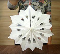 ¡A celebrar! Haz una hermosa estrella de Navidad con bolsas de papel