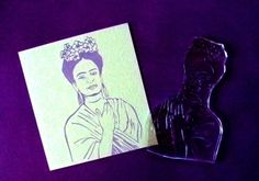 Frida Kahlo clear polymer rubber stamp by sugarskull7 on Etsy, $10.00