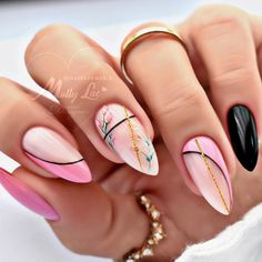 Pretty Nail Designs, Simple Nail Art Designs, Acrylic Nail Designs, Classy Nails, Stylish Nails, Gorgeous Nails, Pretty Nails, Nail Art Designs Videos, Acylic Nails