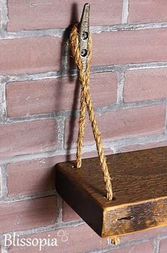 Rope Shelf With Boat Cleat Hangers Wood Wall Shelf Nautical Decor Boat Cleat Shelving Rustic Shelf TV Shelf Boat House Decor Rustic Reclaimed Rope Shelf With Boat Decor Projects