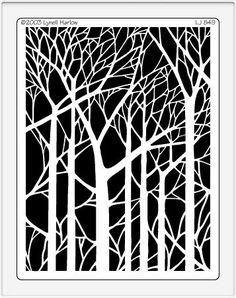LJ 849 Bare trees from Dreamweavers Stencils