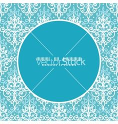 Light blue swirls damask frame seamless vector  - by Oksancia on VectorStock®