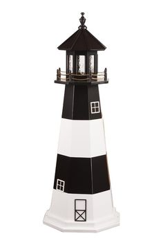 Amish Fire Island Wooden Lighthouse Model