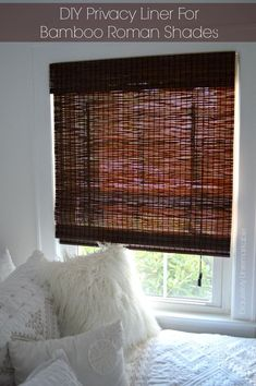 DIY Privacy Liner for Bamboo Roman Shades by Exquisitely Unremarkable