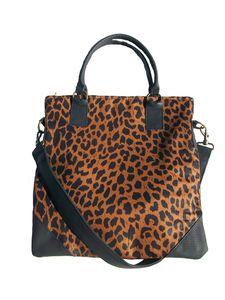 colonia tote in leopard print $98 #accessories #bags