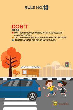 Road Safety Tips : Make roads safer for kids, Drive Responsibly – The Mommypedia Road Safety Tips, Road Safety Poster, Safety Posters, Safety Rules For Kids, Child Safety, Road Safety Slogans, School Bus Driving, Teaching Safety, Safety Pictures