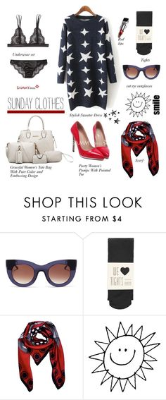 """SAMMYDRESS.COM: Sunday Clothes"" by hamaly ❤ liked on Polyvore featuring Bluebella, Thierry Lasry, Oasis, women's clothing, women, female, woman, misses and juniors"