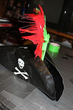 Awesome Pirate Hat made entirely out of Duct Tape #ducttape