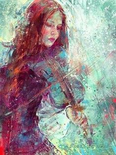 Fire and her fiddle that Cansrel gave to her. I would love to hear her play...if she was real...