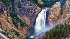 paysages naturels Wyoming Yellowstone cascades Parc national