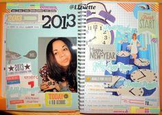 Simple Style Smashbook, New Year, 2013!  por Lizvette