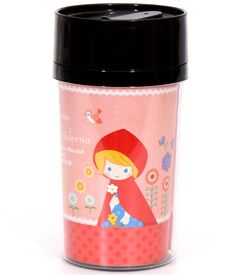pink coffee tumbler with Little Red Riding Hood & wolf Bento Box Lunch, Lunch Boxes, Coffee Tumbler, Coffee Cups, Red Riding Hood Wolf, Modes4u, Made In Heaven, Match Making, Little Red