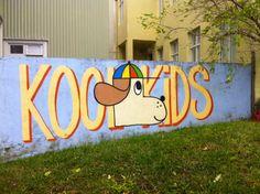 Kool Kids • painting in Reykjavik streets