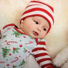 Carter/'s Baby Boys Girls Xmas Christmas 3 piece Outfit Set Size Newborn Red Hat