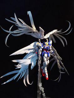 RG 1/144 Wing Gundam Zero Custom EW 'Extra Feather' - Customized Build
