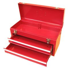 Excel 20.1 in. W Portable Steel Tool Box in Red-TB132-Red - The Home Depot