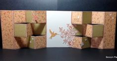 These fabulous cards fold out to create a wonderful display piece that you can fill with gorgeous stamps, beautiful patterned papers or eve...