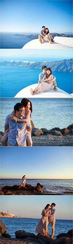 Chen Vivier honeymoon in Santorini by Giota Zoumpou PhotostudioGT Chen, Santorini, Photo Sessions, Engagement, Engagements, Santorini Caldera