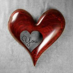 Red Heart Wood Carving Art, Wooden Wedding Gift for Bride, Personalized Christmas Gift for Mom, by Gary Burns the treewiz, Anniversary Gift I Love Heart, Happy Heart, Personalized Christmas Gifts, Christmas Gifts For Mom, Wood Carving Art, Wood Art, Dremel, Art Sculpture En Bois, Wedding Gifts For Bride