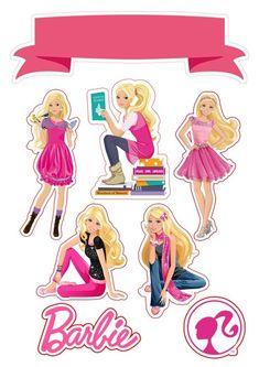 Bolo Barbie, Barbie Cake, Barbie Dolls, Princess Cupcake Toppers, Cupcake Toppers Free, Barbie Birthday Party, Barbie Party, Bolo Png, Barbie Cartoon
