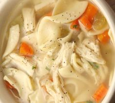 You can enjoy Homemade Chicken Noodle Soup Recipe in just 20 minutes. If you are craving soup, this is the best homemade chicken noodle soup! Easy Homemade Chicken Noodle Soup Recipe, Top Recipes, Healthy Recipes, Mushroom Soup Recipes, Soups And Stews, Food Network Recipes, Noodles, Food And Drink, Healthy Eating