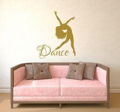 Dance Wall Decal Vinyl Sticker Decals Ballet Dancing Ballerina Acrobatics…