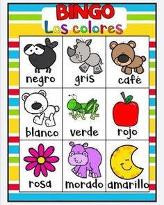 Juego bingo de los colores para aprender los colores Toddler Learning, Toddler Activities, Spanish Lessons Online, Color Activities, Games For Kids, Kid Games, Back To School, Kindergarten, Homeschool