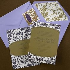 Damask Invitation. Available at Persnickety Invitation Studio