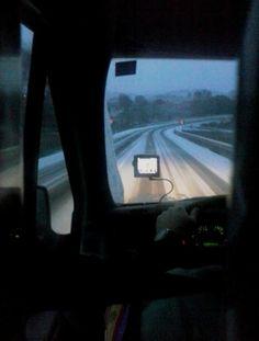 Carretera de Guadalajara nevada. Enviada desde el autobús por ZULEMA NÚÑEZ