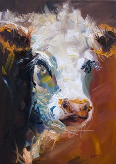 Cow Painting - Orange Cow by Diane Whitehead