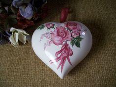 Porcelain Pomander Porcelain Heart Sachet by SpringJewelryThings, $12.95
