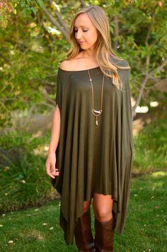 Let Go Dress- Olive