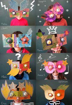 giant cardboard masks